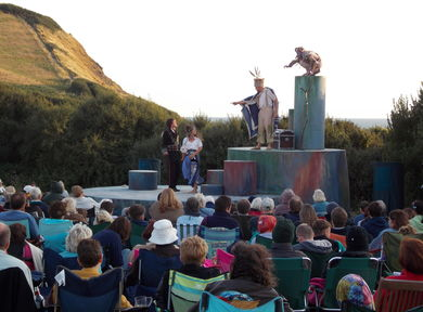 Image from performance at Kimmeridge Bay