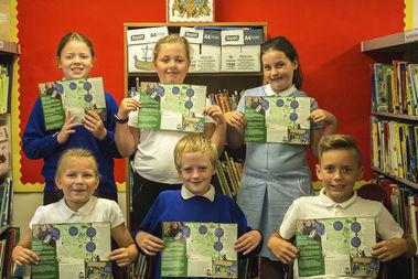 Bincombe Pupils holding leaflet
