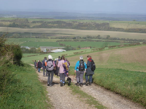 Readers walking out on the Ridgeway