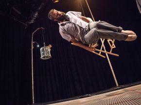 Max Calaf on trampoline